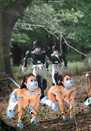 They were ushered into their new life of slavery - K9 Pet Patrol  by Themobber (Quality art 2017)